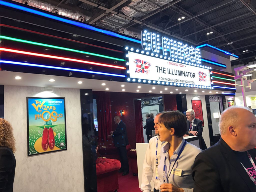 Cu Phosco stand at LuxLive exhibition 2017